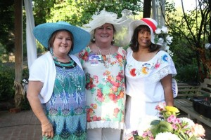Robbie White, Founder of Georgia Cancer Support (c) with friends at the 2nd annual Tea Party for HOPE fundraiser, May 2014.